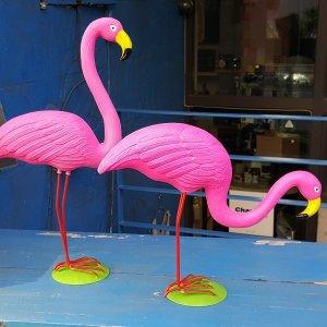 핑크 플라밍고 전원 주택 정원 가든 장식 장식품 소품