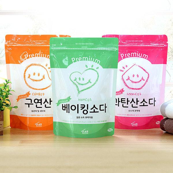 생활세제 프리미엄세트 / 베이킹소다/구연산/과탄산