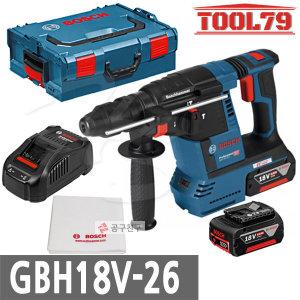 보쉬 GBH18V-26 충전해머드릴 브러쉬리스모터 6.0Ah G