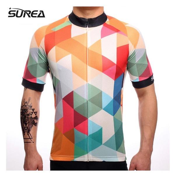 사이클 저지 자전거 유니폼 짧은 소매 남성
