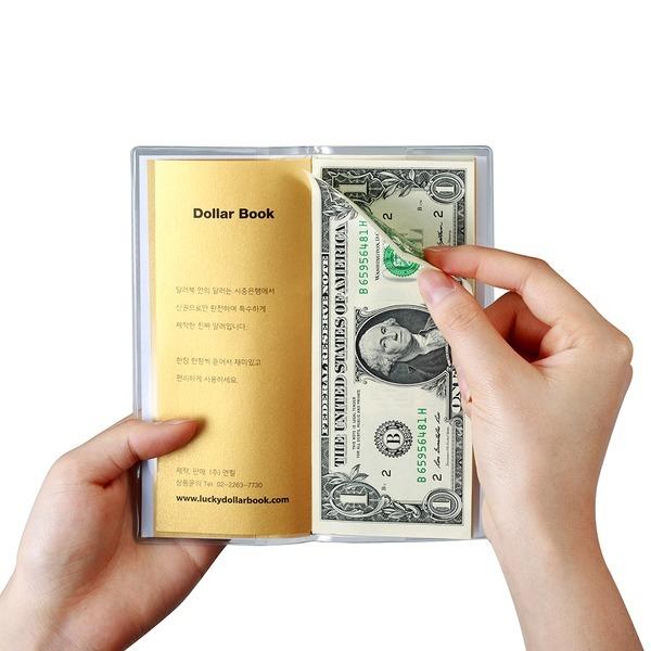 럭키달러북 : 진짜달러 신권지폐 1달러10장 해외여행시 소액지폐지갑기업체홍보및이벤트행사 색상 랜덤