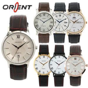 오리엔트 국산 가죽밴드 손목시계 남자시계 남성시계