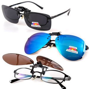 클립선글라스 편광 미러 렌즈 클립온 안경썬글라스