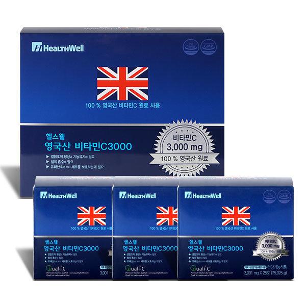 헬스웰 영국산비타민C 3000mg 100포
