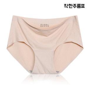 P02 심플 심리스 무봉제 노라인 누디 팬티