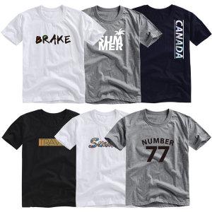 에이블 유니섹스 반팔 프린팅 티셔츠/면티/무지