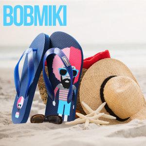 정품 밥미키 플립플랍 남성 여성 쪼리 비치 샌들 신발