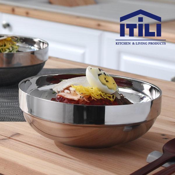 이딜리 이중스텐냉면기 소/그릇/대접/공기/면기/탕기