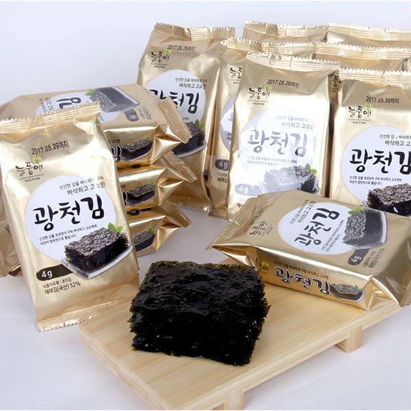 늘품애 광천도시락김4g60봉/광천김/대천김/김/