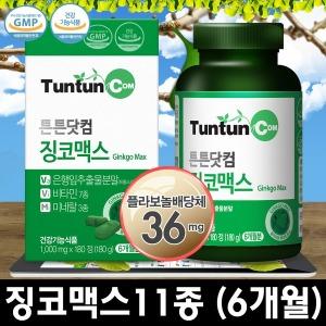 튼튼닷컴 징코맥스 (6개월분) 정품 은행잎추출물 징코