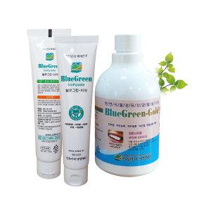 가글 블루그린골드 1병 치약2개 치주염 잇몸질환 예방