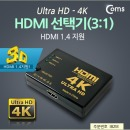 IB218  Coms HDMI 3:1 모니터 선택기 스위치