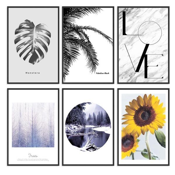 (1+1)모던 사진 아트 인테리어 액자 포스터 20종