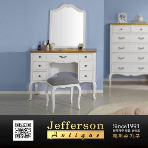 루벤다 엔틱 화이트 콘솔화장대+거울(A) JFS1295CS