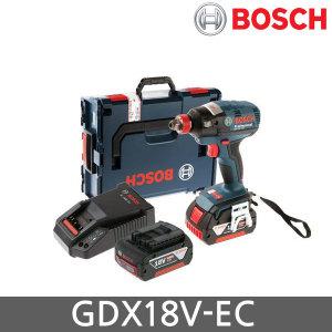 보쉬   GDX18V-EC 18V 충전 임팩 5.0Ah 배터리 2개