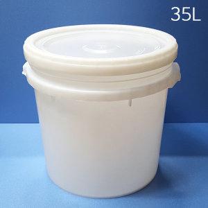 35L 바케스(나사형뚜껑) 밀폐용기 벌크통 원형말통