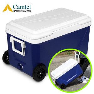캠핑용 바퀴달린 대형 아이스박스 50리터/블루