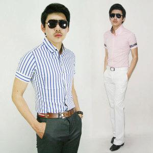 댄디샵 세일/패션디자인/스트라이프 스판 남방셔츠