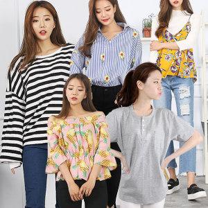빅-4XL까지/티셔츠/커플룩/반팔/블라우스/셔츠
