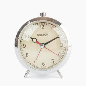 덜튼 탁상 알람 시계 - 크롬