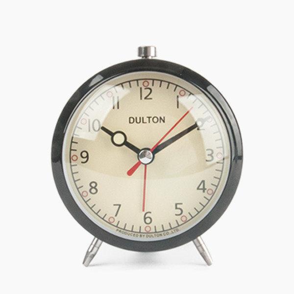 덜튼 탁상 알람 시계 - 블랙