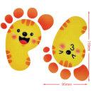 야광발바닥 스티커 F-163 통통 노랑동물 5매