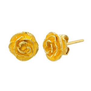 한국표준금거래소  순금 로즈 귀걸이 3.75g