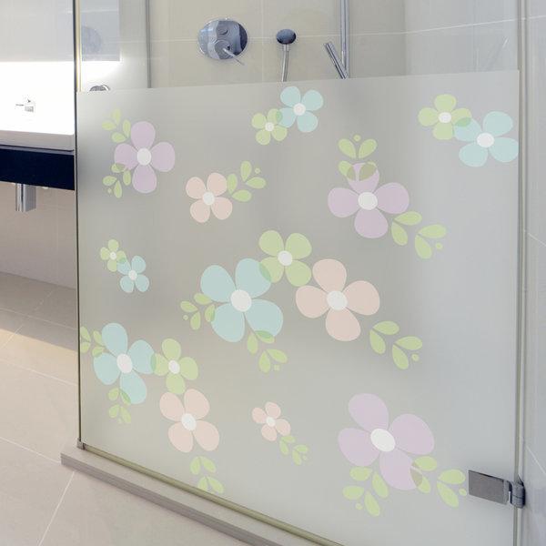 dgcn021-꽃문양 패턴-무점착 반투명 창문 시트지