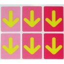 야광발바닥 스티커 F-256 분홍 화살표 5매