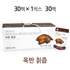 옥반식품 칡즙 100mlx30팩 100% 국산 칡으로 제조