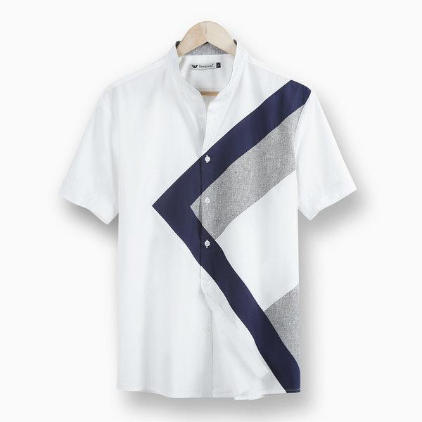 A남성반팔셔츠/남자남방/신상/차이나/솔리드/여름셔츠