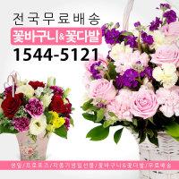 꽃바구니/꽃다발/생일/기념일 전국3시간 무료배송