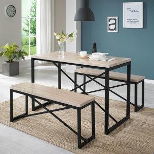 스테이 식탁세트 4인용식탁 테이블 벤치의자 식탁의자