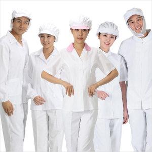 반팔/HACCP/긴팔위생복/위생모자와위생바지동시구매