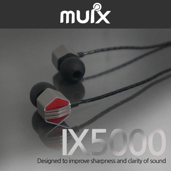 MUIX정품IX5000 이어폰 단단한 저음+고해상도+사은품