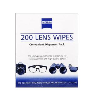 정품 자이스 렌즈크리너 200매 안경렌즈크리너 티슈형