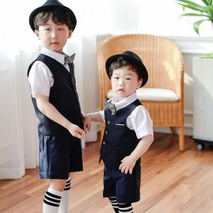 아동정장 3종기획세트 셔츠+조끼+바지