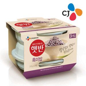 (neo) CJ 햇반 흑미밥 210g x 3번들/즉석밥