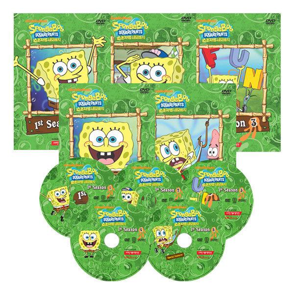 DVD 보글보글스폰지밥 1집 5종 SpongeBob SquarePants