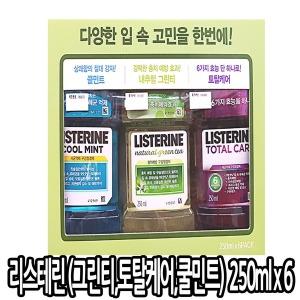 리스테린 그린티 토탈케어 쿨민트 250ml x 6