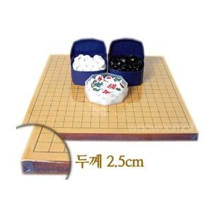 국산 경북 양면 바둑판 장기판 2.5cm + 바둑알 장기알