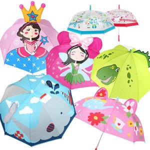 캐릭터 입체우산/ 아동우산/라벨스티커 /투명우산