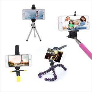 스마트폰 삼각대 휴대폰 셀카봉 셀카 여행 캠핑 촬영