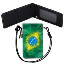 Brazil Flag 브라질 국기 목걸이 카드지갑 여행필수품