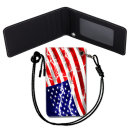 USA Flag 미국 국기 목걸이 카드지갑 여행필수품