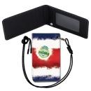Costa Rica Flag 코스타리카 국기 목걸이 카드지갑