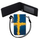 Sweden Flag 스웨덴 국기 목걸이 카드지갑 여행필수품