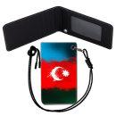 Azerbaijan Flag 아제르바이잔 국기 목걸이 카드지갑