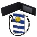 Uruguay Flag 우루과이 국기 목걸이 카드지갑