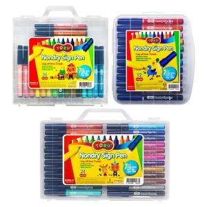 토루 논드라이 사인펜 36색 24색 12색 싸인펜